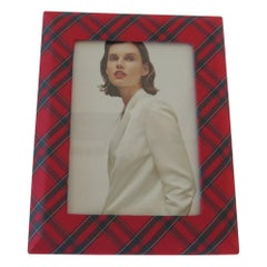 Red and Green Silk Plaid Ralph Lauren Picture Frame