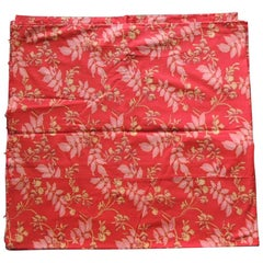 Red and Pink Antique Floral Large Textile Panel