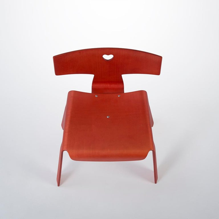 Pleasant Red Aniline Vitra Eames Kids Plywood Nested Chair Machost Co Dining Chair Design Ideas Machostcouk