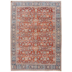 Red Antique Mahal Handmade Wool Rug