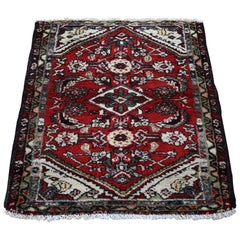 Red Antique Persian Hamadan Clean Pure Wool Hand Knotted Oriental Rug
