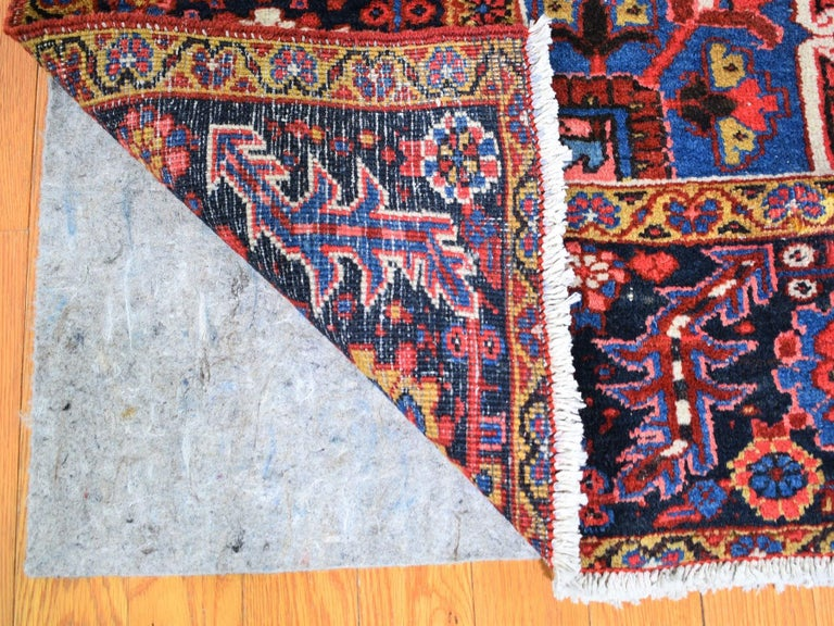Hand-Knotted Red Antique Persian Heriz circa 1920, Good Condition Clean Hand Knotted  For Sale