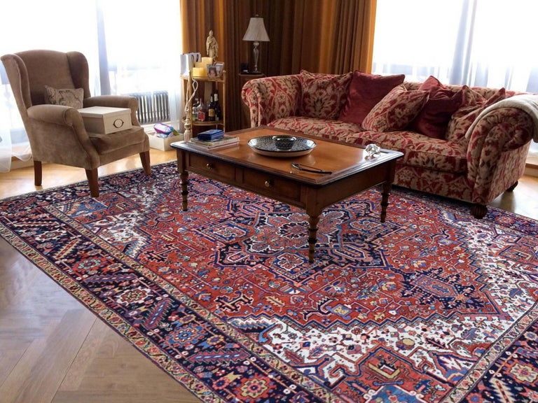 This fabulous hand knotted carpet has been created and designed for extra strength and durability. This rug has been handcrafted for weeks in the traditional method that is used to make rugs. This is truly a one-of-kind piece. 