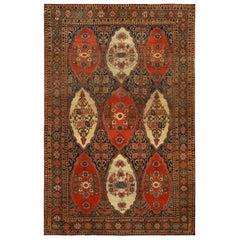 Red Antique Persian Senneh Carpet