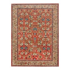 Antique Persian Sultanabad Red Wool Rug