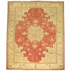 Red Antique Turkish Oushak Rug