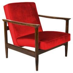 Red Armchair, Edmund Homa, GFM-142, 1960s, Poland