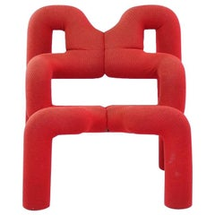 "Red Armchair ""Extreme"", Terje Ekstrøm - 1960s"