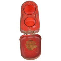 Red Arrow Reflect O Flare Light Vintage Car Safety Device Compact Road Hazard