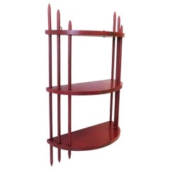Red Art Deco Period Wall Shelf