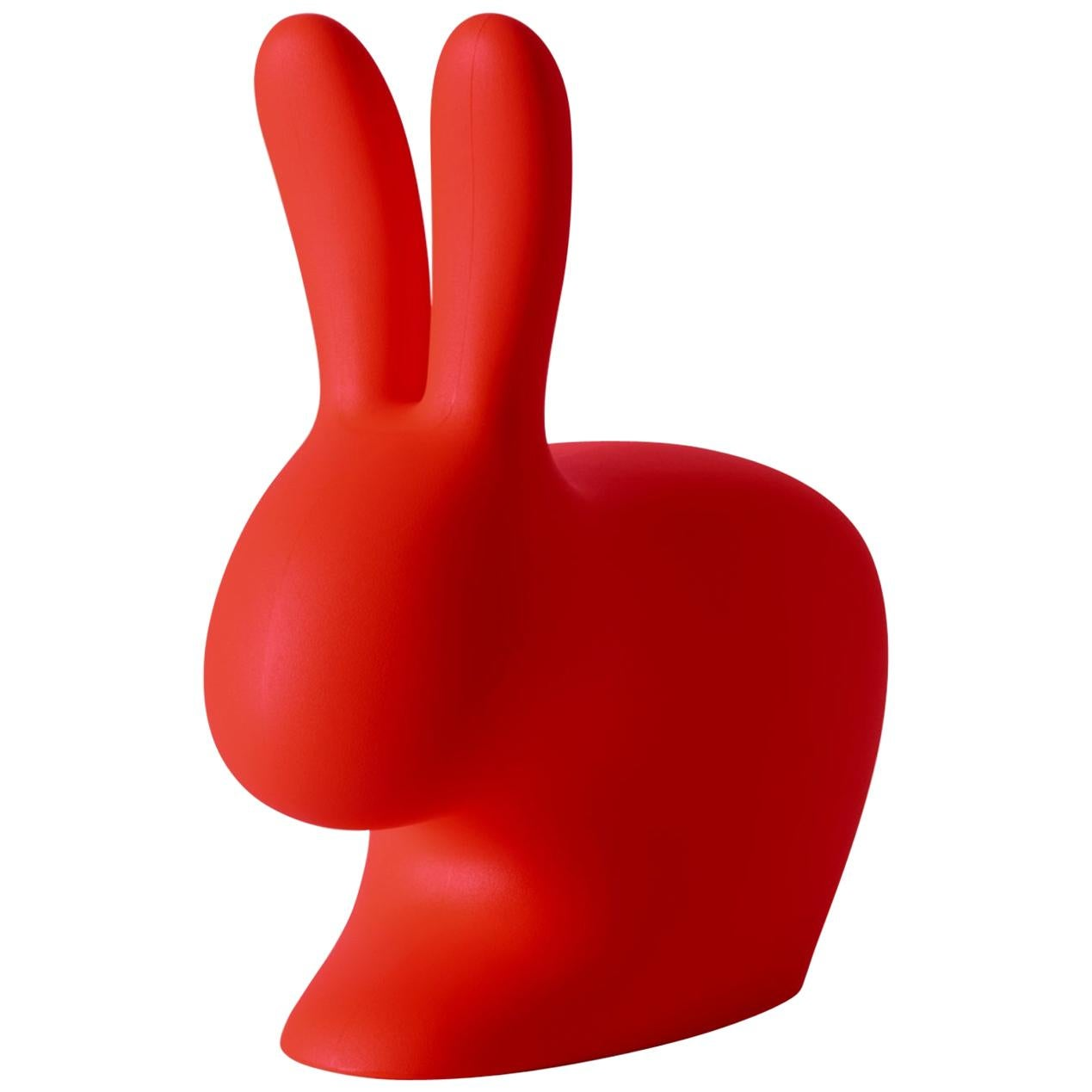 In Stock in Los Angeles, Red Baby Rabbit Chair by Stefano Giovannoni