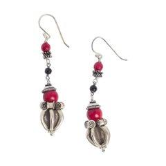 Red Bamboo Dorje Earrings