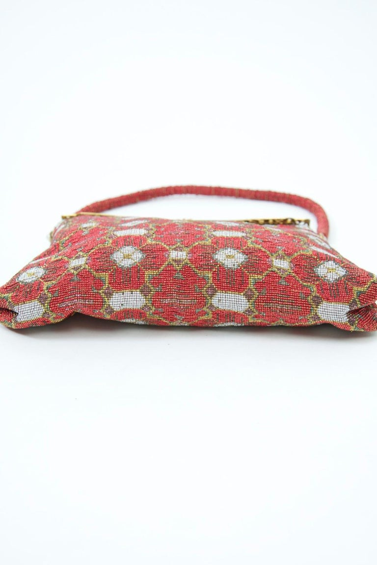 Red Beaded Evening Bag, France For Sale 2