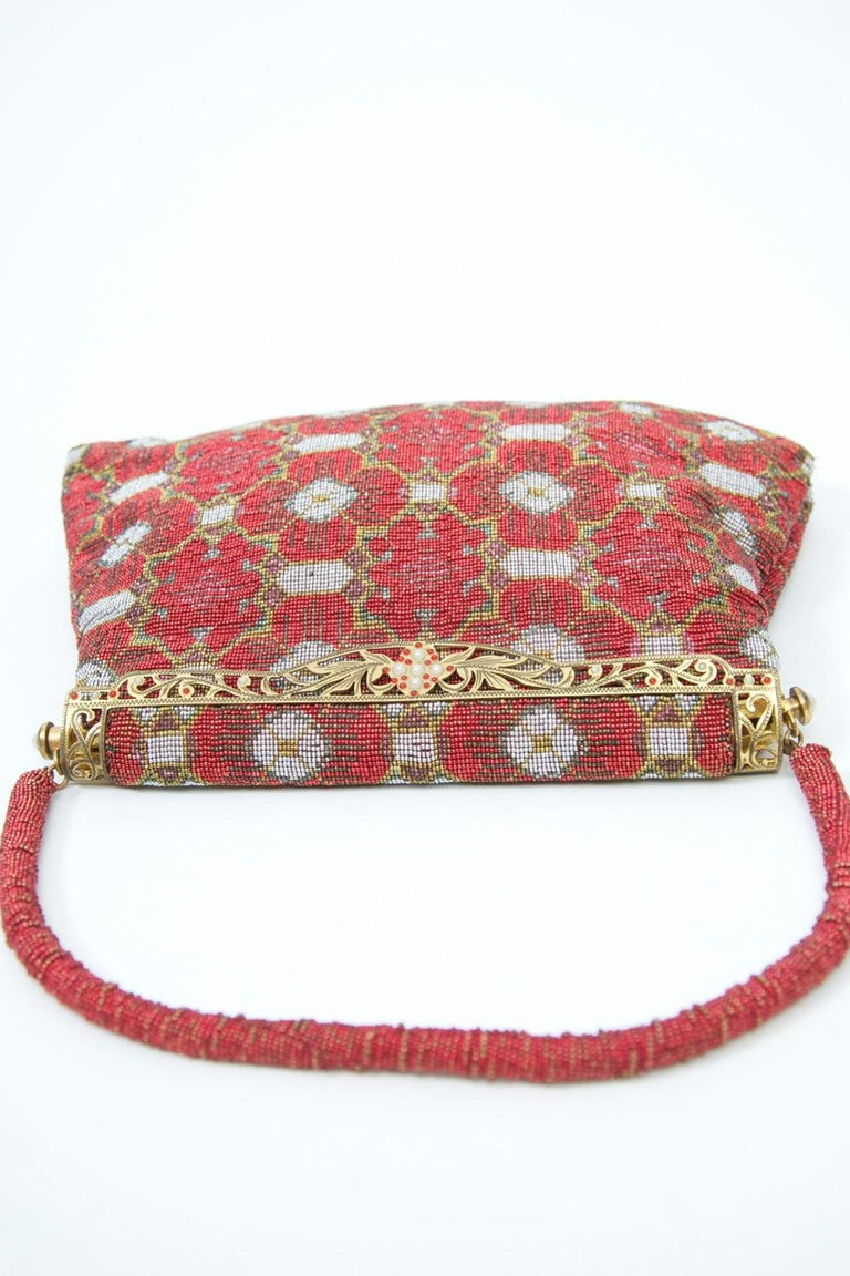 Red Beaded Evening Bag, France For Sale 4