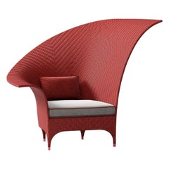 Red Bergère Armchair