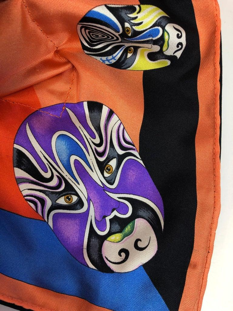 Red, Blue, Orange, Lilac, Green and Yellow Versace Silk Scarf Upholstered Pillow In Good Condition For Sale In Houston, TX
