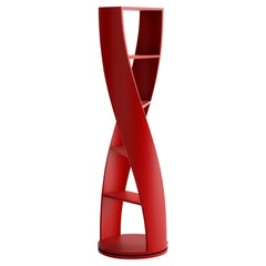 Red Bookcase and Storage System Mini MYDNA Collection by Joel Escalona