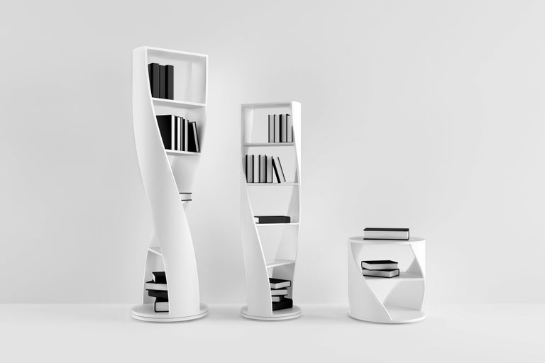 Red Bookcase and Storage System: MYDNA Collection by Joel Escalona For Sale 2