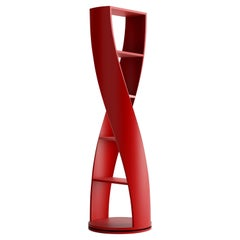 Red Bookcase and Storage System, MYDNA Collection by Joel Escalona