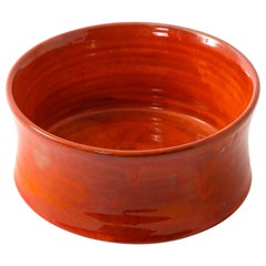 Red Bowl by Robert and Jean Cloutier, France, 1970s