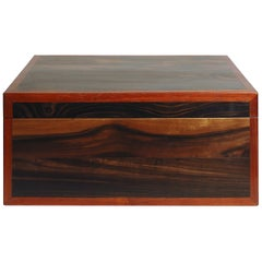 Red Box in Makassar Ebony Wood