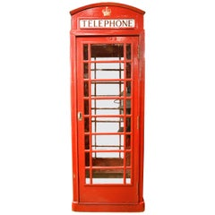 Red British K6 Telephone Booth