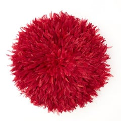 Red - Cameroon Feather Head Dress Juju Hat