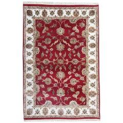 Red Carpet Floral Rug, Traditional Handmade Rugs Sale Wool Area Rug
