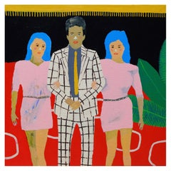 'Red Carpet Party' Portrait Painting by Alan Fears Pop Art
