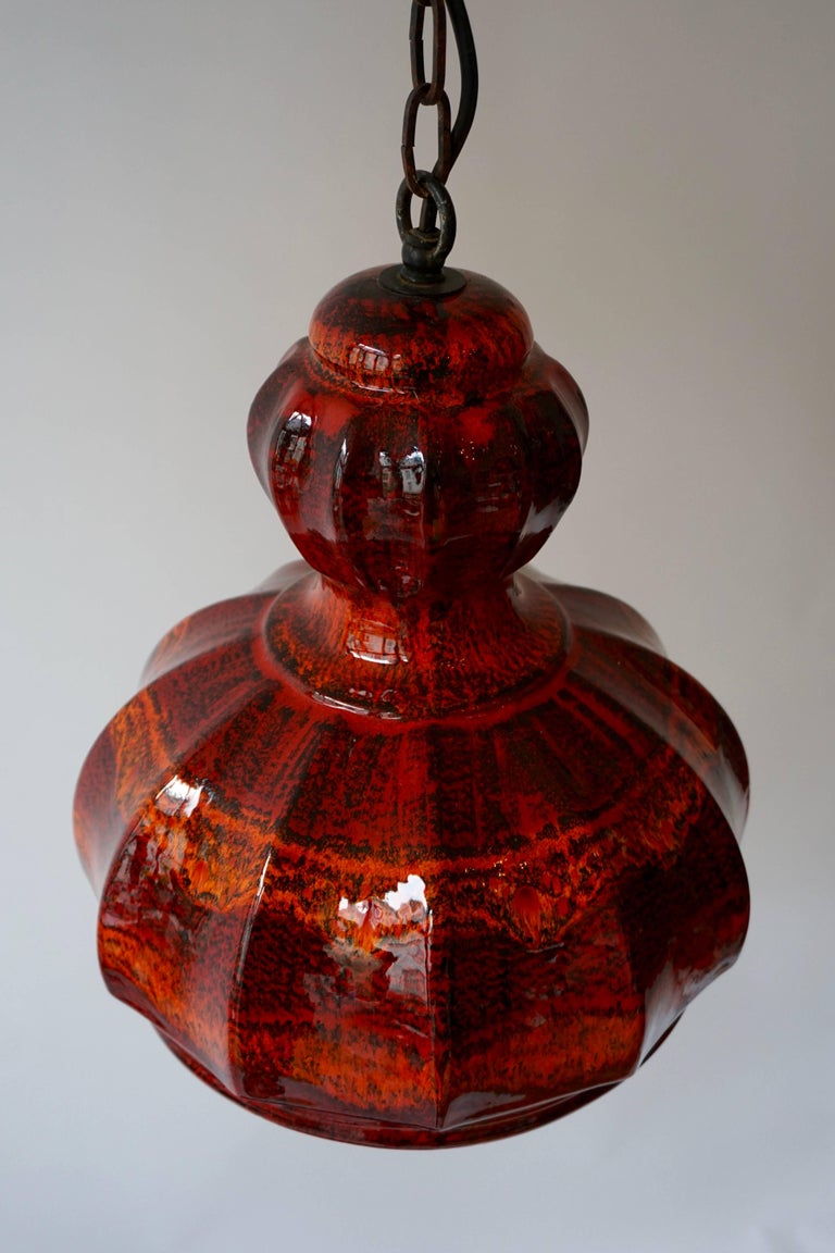 20th Century Red Ceramic Pendant Lights For Sale
