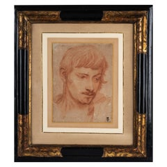 Red Chalk Study of a Young Man, 17th Century Italian School