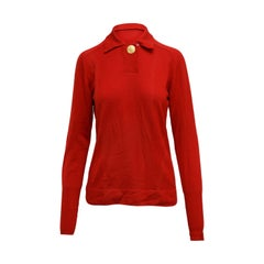 Red Chanel Boutique Long Sleeve Knit Top