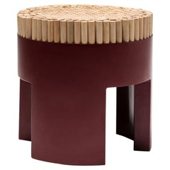 Red Chiquita Stool by Kenneth Cobonpue