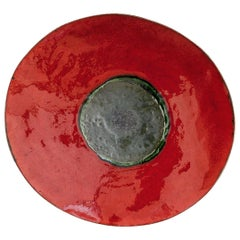Red Contemporary Ceramic Decorative Plate