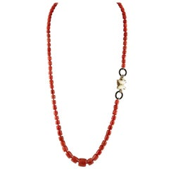 Red Coral Rubies Onyx Rings Mother of Pearl Butterfly Rose Gold Silver Necklace