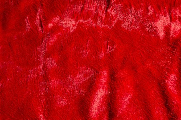 Adirondack Red Cowhide Rug For Sale