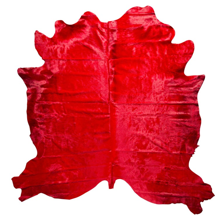 Red Cowhide Rug For Sale
