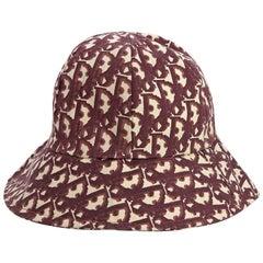 Red & Cream Vintage Christian Dior Bucket Hat