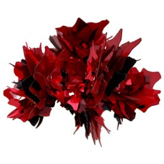 Red Crystal Flower Ceiling Lamp