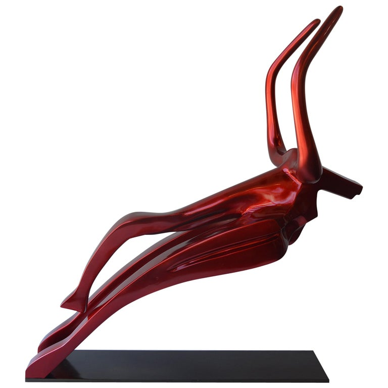 """""""Red Deceive"""", Oversized Sculpture by Mauricio Sorice For Sale"""
