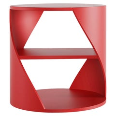Red Decorative Nightstand, MYDNA Side Table by Joel Escalona
