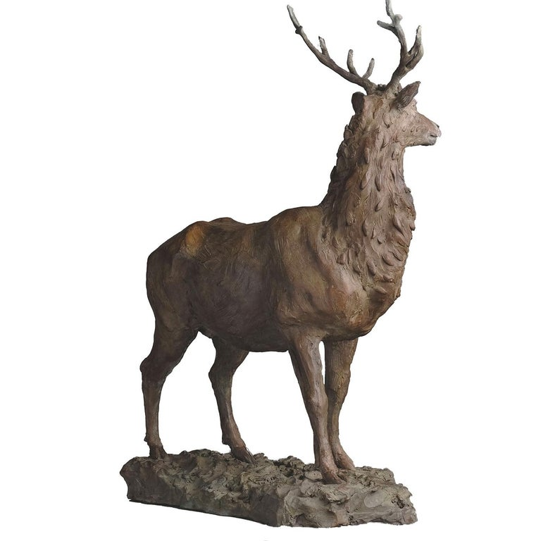Italian Red Deer Stag Sculpture For Sale