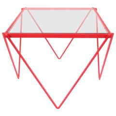 Postmodern Red Side or End Table in the Style of Paolo Piva, ca. 1980s