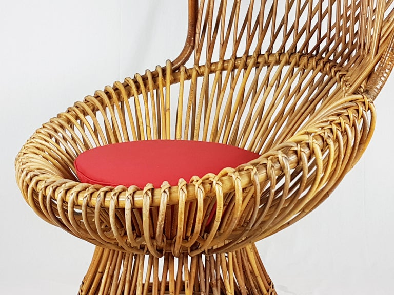 This wicker armchair,