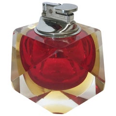 Red Faceted Sommerso Lighter by Mandruzzato FINAL CLEARANCE SALE