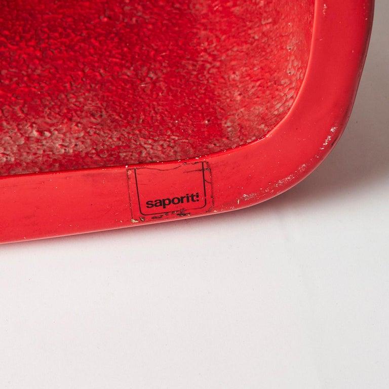 Mid-20th Century Red Fiberglass