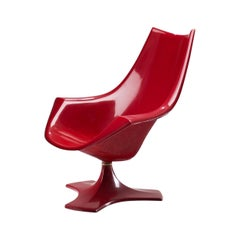Red Fibreglass 'Amicus' Armchair by Antero Poppius, Finland, 1970