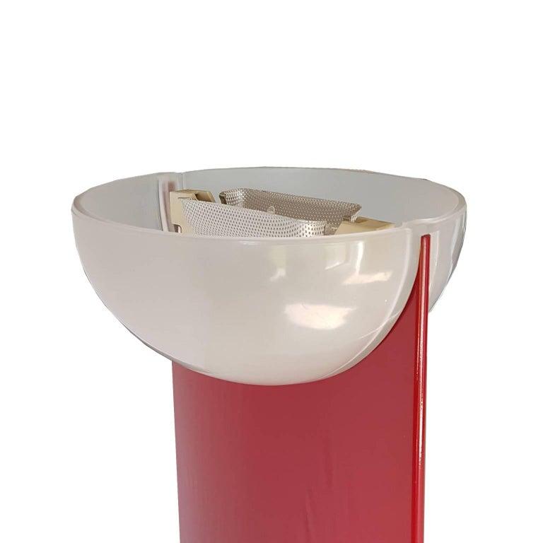 Gianfranco frattini italian murano glass floor lamp glossy with red gianfranco frattini italian murano glass floor lamp glossy with red steel column for sale 4 aloadofball Gallery