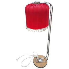 Red Floor Lamp with Beautiful Shaped Shade