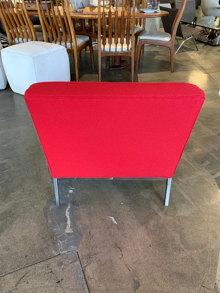Red Florence Knoll Lounge Chairs For Sale 2